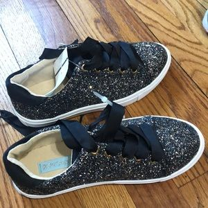 Sparkly Black Betsy Johnson sneaker
